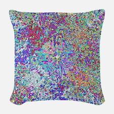 Paint Splatter Woven Throw Pillow