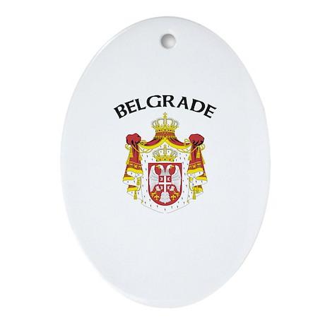 Belgrade, Serbia & Montenegro Oval Ornament