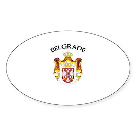 Belgrade, Serbia & Montenegro Oval Sticker