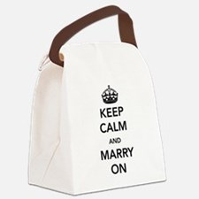 Keep Calm and Marry On Canvas Lunch Bag