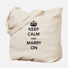 Keep Calm and Marry On Tote Bag