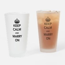 Keep Calm and Marry On Drinking Glass