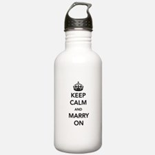 Keep Calm and Marry On Water Bottle
