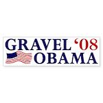Gravel-Obama '08 Bumper Sticker