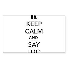 Keep Calm and Say I Do Decal