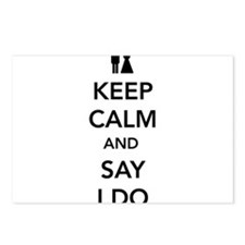 Keep Calm and Say I Do Postcards (Package of 8)