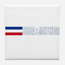 Serbia & Montenegro Tile Coaster