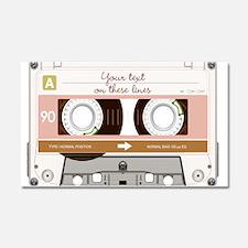 Cassette Tape - Tan Car Magnet 20 x 12
