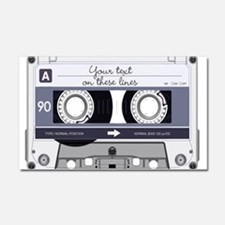 Cassette Tape - Grey Car Magnet 20 x 12