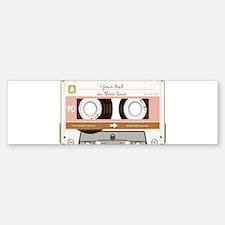 Cassette Tape - Tan Sticker (Bumper)