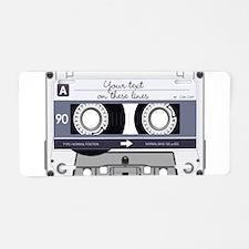 Cassette Tape - Grey Aluminum License Plate