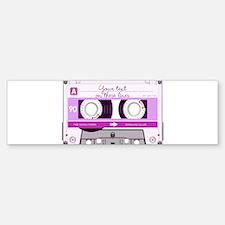 Cassette Tape - Pink Sticker (Bumper)