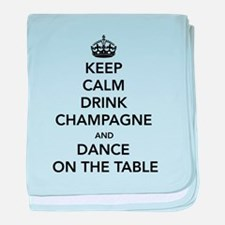 Keep Calm Drink baby blanket