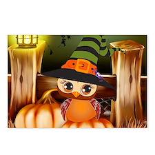 Cute Halloween Owl Postcards (Package of 8)