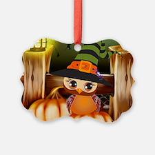 Cute Halloween Owl Ornament