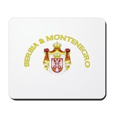 Serbia & Montenegro Coat of A Mousepad