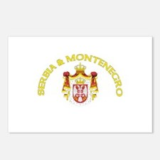 Serbia & Montenegro Coat of A Postcards (Package o