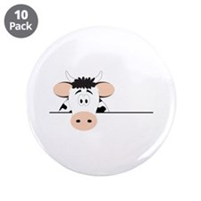 """Cow 3.5"""" Button (10 pack)"""