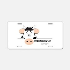 Mooooove Over! Aluminum License Plate