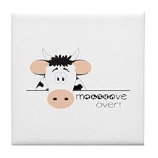 Mooooove Over! Tile Coaster
