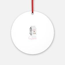 Non-Dairy Queen Ornament (Round)