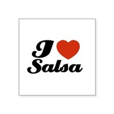 "Unique I love salsa Square Sticker 3"" x 3"""
