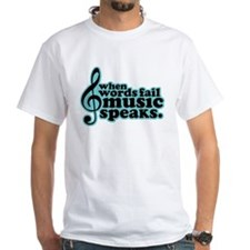 music speaks black teal T-Shirt