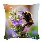 Humble Bumblebee Woven Throw Pillow