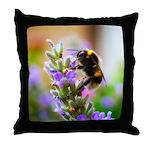 Humble Bumblebee Throw Pillow