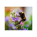Humble Bumblebee Throw Blanket