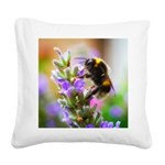 Humble Bumblebee Square Canvas Pillow