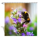 Humble Bumblebee Shower Curtain