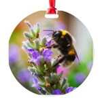 Humble Bumblebee Round Ornament