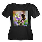 Humble B Women's Plus Size Scoop Neck Dark T-Shirt