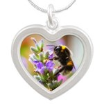 Humble Bumblebee Silver Heart Necklace