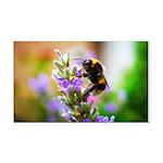 Humble Bumblebee Rectangle Car Magnet