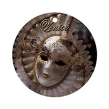 Venetian carnival mask Ornament (Round)