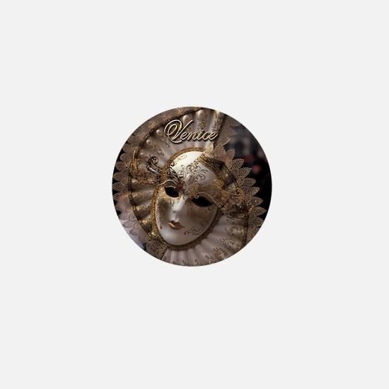 Venetian carnival mask Mini Button