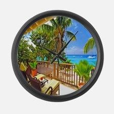 Tropical Delight Large Wall Clock