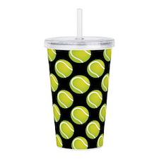 Tennis Balls Acrylic Double-Wall Tumbler