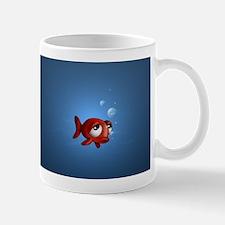 Cartoon Fish in a Bowl Coffee Mug