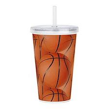 Basketballs Acrylic Double-Wall Tumbler