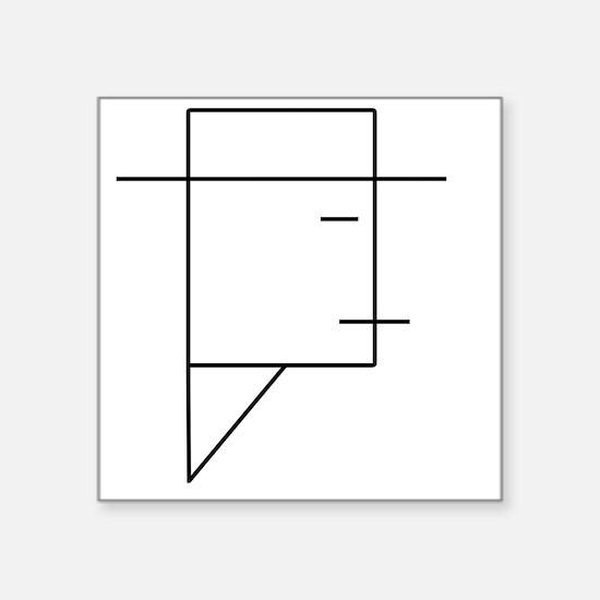 "Eastwood Square Sticker 3"" x 3"""