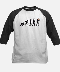 Evolution of man photographer Baseball Jersey