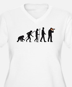 Evolution of man photographer Plus Size T-Shirt