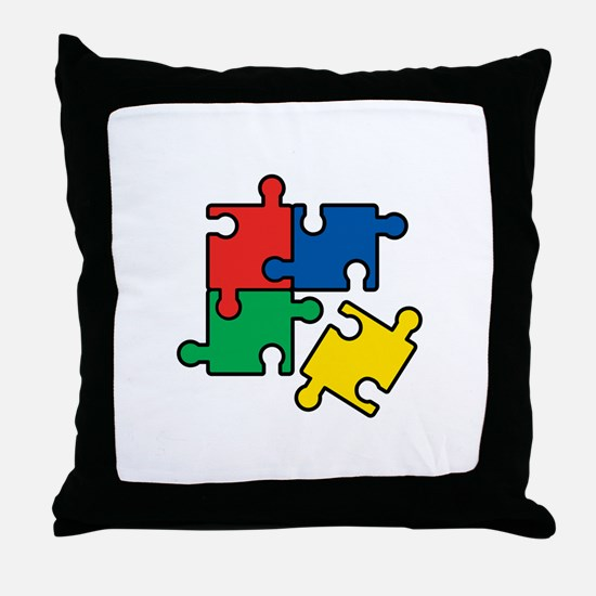 44. Jigsaw Puzzle Throw Pillow