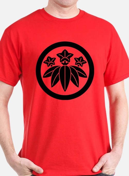 Bamboo-style gentian in circle T-Shirt