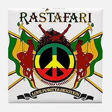 Jah Rastafari Tile Coaster