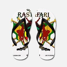 Jah Rastafari Flip Flops