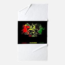 Lion of Judah Reggae Beach Towel